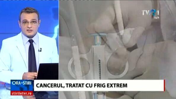 罗马尼亚电视台采访徐克成院长,讲述冷冻消瘤减瘤在治疗癌症中的